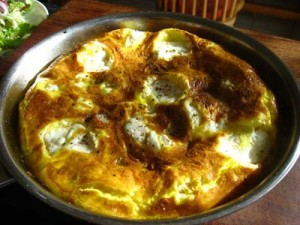 Frittata with Fresh Herbs and Goats Cheese